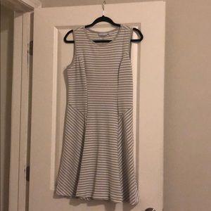 Grey & White Dress